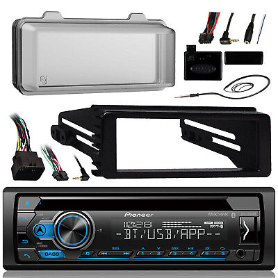 98-13 FLHX Harley Install Adapter Radio Kit, CD Receiver Antenna and Radio Cover Adapter Kit-cd