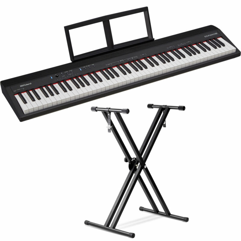 Roland GO:PIANO 88-Key Digital Piano with Front Row Keyboard Stand