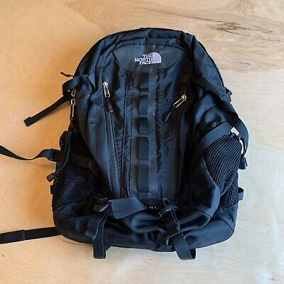 The North Face Big Shot Backpack Black Outdoors Hiking School Day Bag EUC