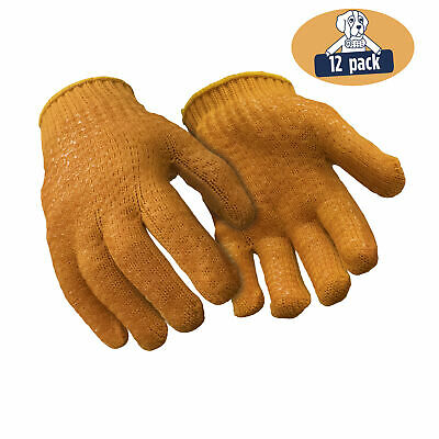 Refrigiwear Double Sided Pvc Honeycomb Grip Acrylic Knit Work Gloves 12 Pairs