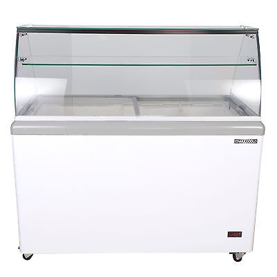 Maxx Cold 8 Flavor 14 Cu Ft Commercial Ice Cream Dipping Cabinet Freezer Mxdc-8