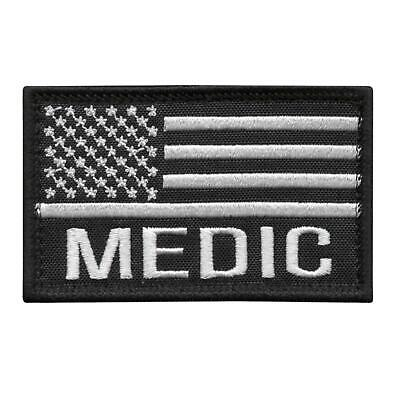MED USA Flag Medic EMS american embroidered patriotic tactical morale hook patch