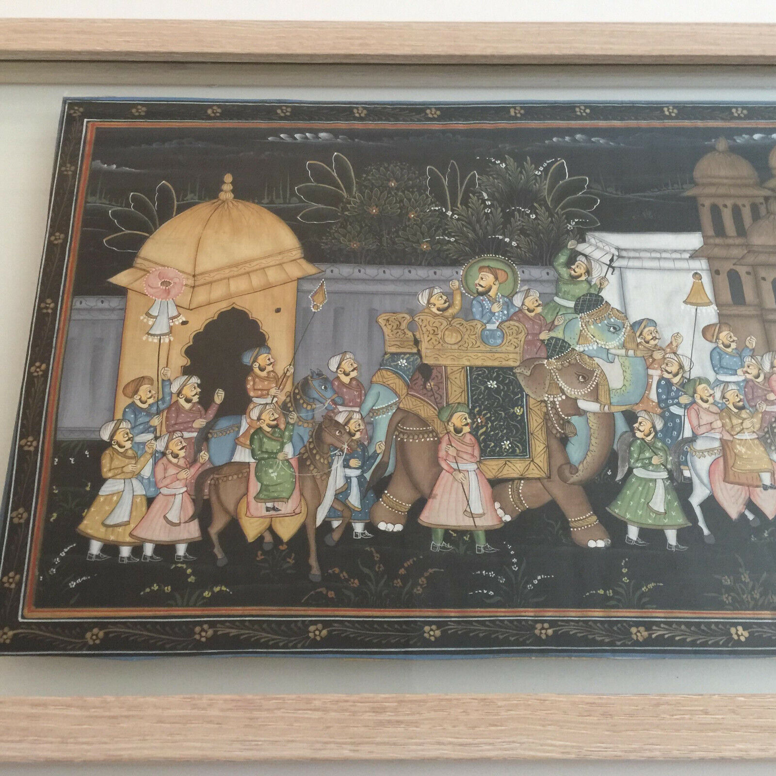Hand Painted Rajasthan Silk Painting - $250.00