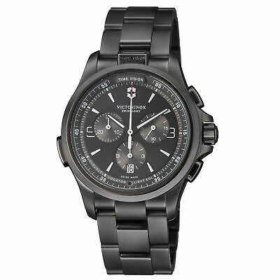 Victorinox Night Vision Quartz Movement Anthracite Dial Men's Watch 241730