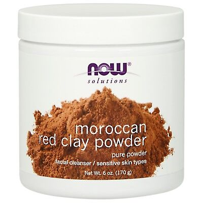 Foods Red Clay Powder - NOW Foods Red Clay Powder Moroccan, 6 oz.