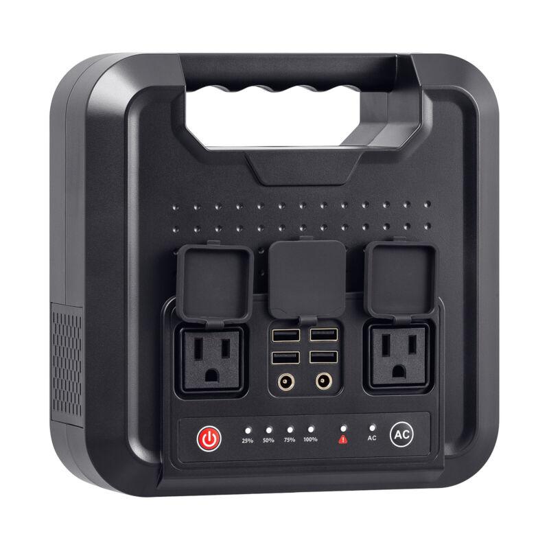 300W Portable Power Station Outdoor Solar Generator Emergency Power Supply USB
