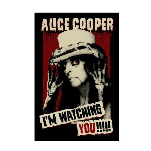 Alice Cooper IM Watching You Tapestry Fabric Cloth Poster Flag Wall Banner