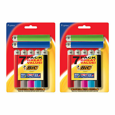 BIC Classic Lighter, Assorted Colors, 14-Pack