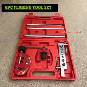 6PC FLARING TOOL KIT SET TUBING FLARE TUBE SMALL PIPE SPRING