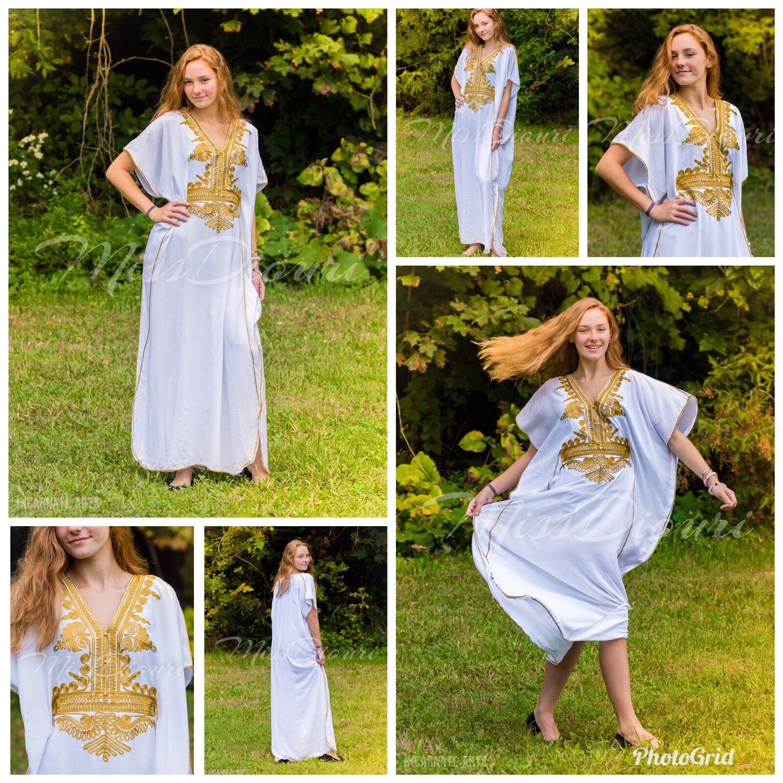 SALE !!! Moroccan kaftan Embroidery Batwing Maxi Dress Dubai Sexy Abaya one size