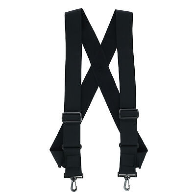 New CTM Elastic TSA Compliant Side Clip Suspenders with Swiv