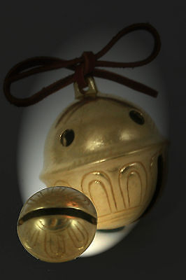 Polar Bear Express Bell # 3 Brass Sleigh Bell  w tie We have all sizes & Numbers