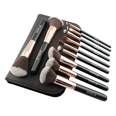 Six Plus This Gold Makeup Pinsel 11 der Adelige Set Braun Kosmetiktasche (Make-up Pinsel Set-braun)