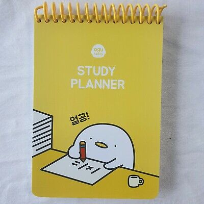 Study Planner Minutes Planner Daily Plan Korea yellow daily plan memo Made 120p