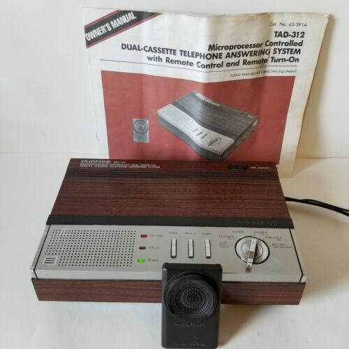 Vintage Radio Shack DUOFONE TAD-312 Dual Cassette Answering Machine w/ Remote