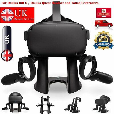 For Oculus Rift S/ Oculus Quest Headset Controller AMVR VR Display Stand Holder