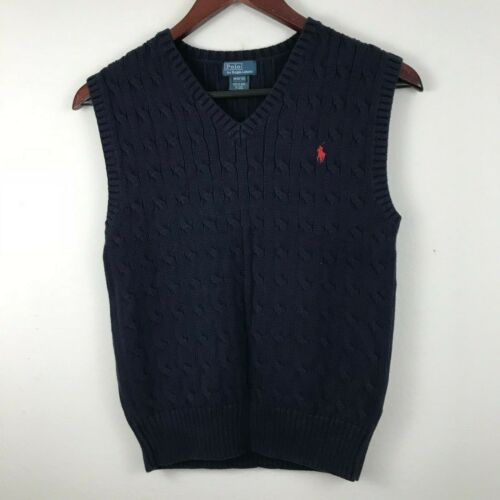 Boys Ralph Lauren cotton sweater vest size M (10-12)