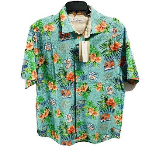 Tommy Bahama Mens Aloha From Paradise S/S Shirt Medium Floral Hawaiian Rare* Casual Button-Down Shirts