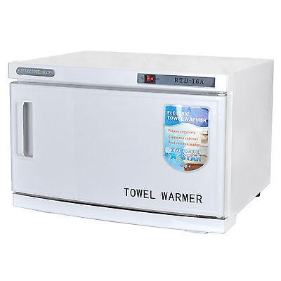 UV Facial Towel Warmer Sterilizer Cabinet Hot Beauty Salon Disinfection 16L