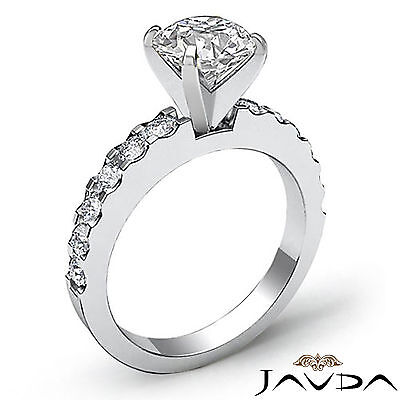 Shared Prong Round Natural Diamond Engagement Ring GIA Certified H SI1 1.47 Ct 1