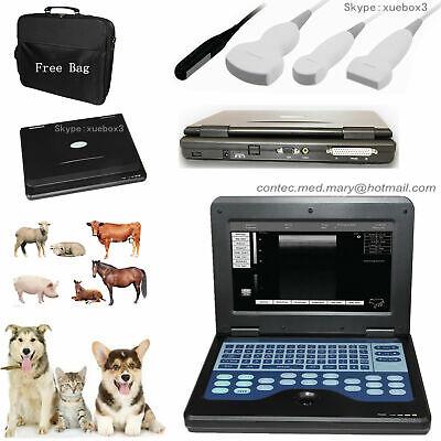 Vet Veterinary Ultrasound Scanner Portable Laptop Machine For Animal Contec New