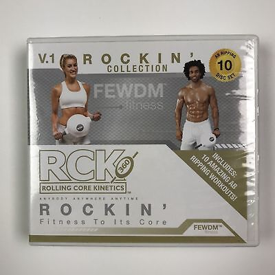 RCK 360 Rolling Core Kinetics 10 Disk DVD Set AB Workouts-(BRAND NEW)-