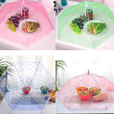 Foldable Food Cover Umbrella Picnic Barbecue Party Fly Mosquito Mesh Net Tent
