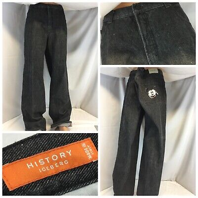 Iceberg History Mickey Mouse Jeans 40x36 Dark Made Italy Straight EUC YGI K9-373