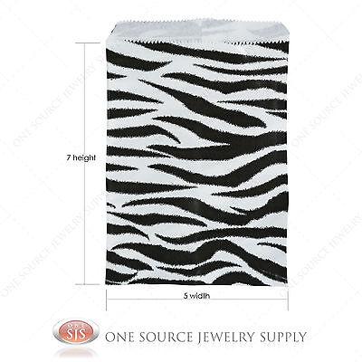 1000 Zebra Print Gift Bags Merchandise Bags Paper Bags 5x 7