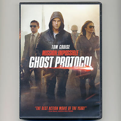 Mission Impossible Ghost Protocol 2011 PG-13 action spy movie DVD Tom (13 Ghost Movie)