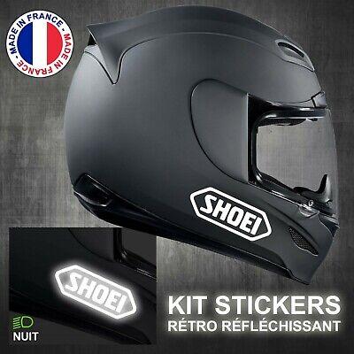 Kit de 4x Sticker autocollant Réfléchissant sécurité pour 'SHOEI' Casque moto