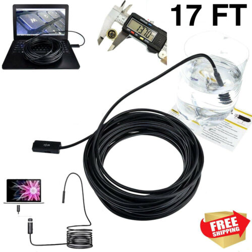 Plumber Pipe Inspection Camera Endoscope Video Waterproof Sewer Drain Cleaner