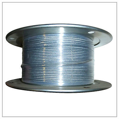 "1/16"" 7X7 Galvanized Aircraft Cable X 500FT Control Wire Rope on Rummage"