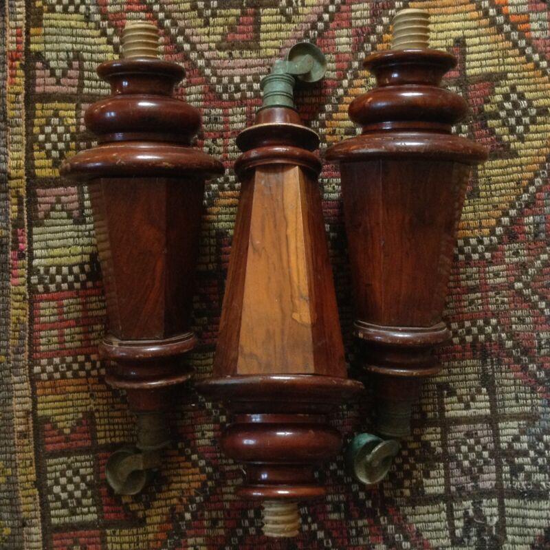 Antique Grand Piano Legs Wien Austria Vienna Walnut Wood Instrument Bronze Wheel