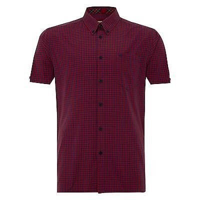 SCONTO 40% MERC LONDON CAMICIA TERRY GINGHAM MANICA CORTA XS S XXL CASUAL MODS
