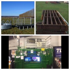 Round pens farm gates feeders and more