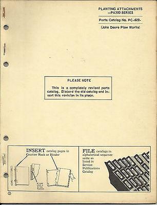 John Deere Planting Attachments Pa300 Series Parts Catalog