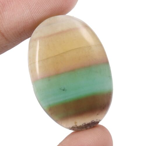 52.85 Cts Natural Fluorite Oval Shape Cabochon Loose Gemstone FR5