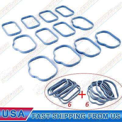 12X Intake Manifold & Plenum Gaskets For Chrysler 300 Jeep Wrangler Dodge 3.6L