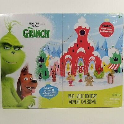 Dr Seuss' The Grinch Who-Ville Holiday Advent Calendar Christmas 26 Pieces