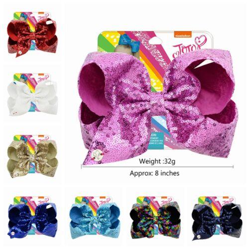 JOJO SIWA Girls Kids Hair Bow Rainbow Hair Clip With Alligator Clip Kids Bowknot