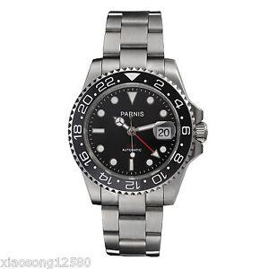 40mm Parnis Sapphire Glass Ceramic Bezel GMT-MASTER Men's Automatic Watch PA-253