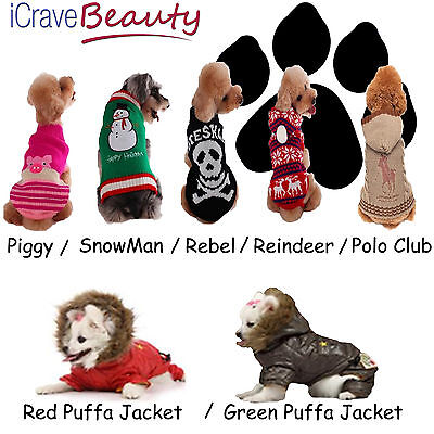 Dog Coat Dog Jumper Pet Outfit Dog Cat Costume - Dog Accessories - UK SELLER - Costumes For Dogs Uk