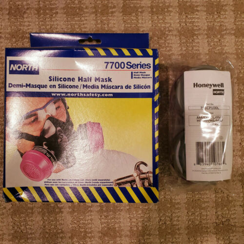 North 7700 Series 770030M Half Mask Resusable Respirator MEDIUM WITH FILTERS