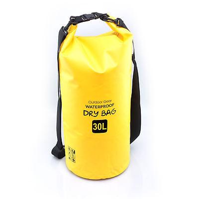 Waterproof OUTDOOR GEAR HEAVY DUTY Boating Kayaking Camping Dry Bag 30 liter ylw
