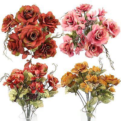 Alstroemeria Rose Bouquet (Rose and Alstroemeria Glitter Bouquet - Artificial Silk Flowers Bundle)