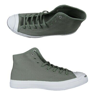 Converse Jack Purcell Mid Sneakers Dark Stucco Light Olive Size 10 Mens 159669C, used for sale  Spring