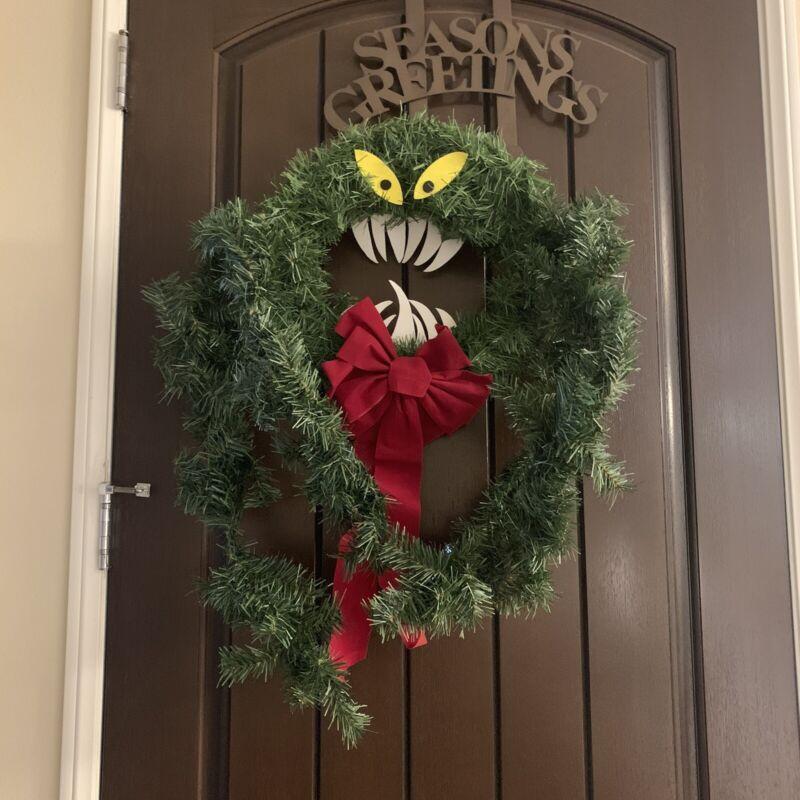 Nightmare Before Christmas Wreath w/teeth