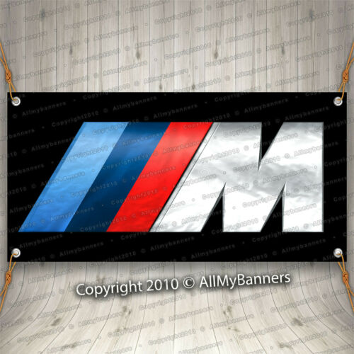BMW Banner M Power Logo Ft Flag Car Show Garage Wall M Coupe Roadster bnd