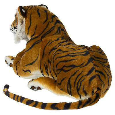 60cm Tiger Plush Animal Realistic Big Cat Orange Bengal Soft Stuffed Toy Pillow Bengal Tiger Stuffed Animal